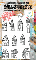 #462 Our house clear stamp set - Stämpelset med hus från Janet Klein AALL & Create A6