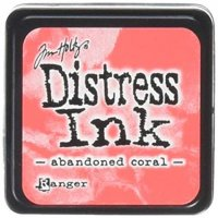 abandoned coral, distress ink, tim holtz