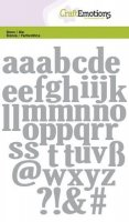 Alphabet lowercase die set - Stansmallar med gemener - små bokstäver från Craft Emotions