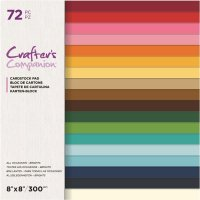 All Occasions Brights 8x8 Inch Card Pad - Enfärgade papper från Crafter's Companion 20x20 cm