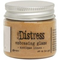 Antique linen distress embossing glaze - Glansigt embossingpulver från Tim Holtz / Ranger ink