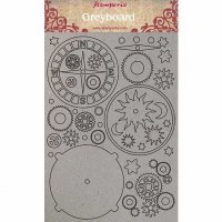 Arctic Antarctic chipboard decorations - Dekorationer med steampunktema från Stamperia A4