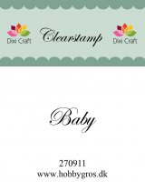 baby, stamp, stämpel, text, dixi craft