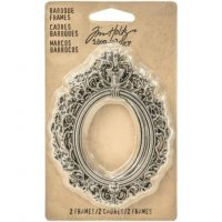 Antique nickel baroque frames - 2 st metallramar från Tim Holtz