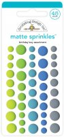 Birthday Boy Assortment Matte Sprinkles - 45 st platta dekorationer från Doodlebug design