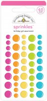 Birthday Girl Assortment Sprinkles - 45 st färgglada platta dekorationer från Doodlebug design