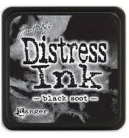 black soot, distress ink, tim holtz