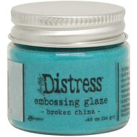 Broken china distress embossing glaze - Glansigt embossingpulver från Tim Holtz / Ranger ink