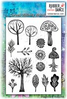 Carved whimsy wood stamp set - Stämplar från Rubber Dance Stamps