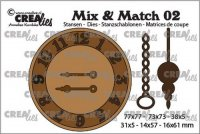 Clock with chain and penulum die set mix02 - Stansmallar med klocka från CreaLies