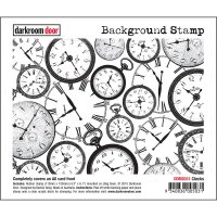 Clocks background rubber stamp from Darkroom Door A6