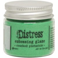 Cracked pistachio distress embossing glaze - Glansigt embossingpulver från Tim Holtz / Ranger ink