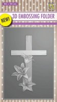 Cross with lilies 3D embossing folder - Embossingfolder med kors från Nellie Snellen 10*15 cm