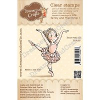 Dance with joy stamp - Motivstämpel med en dansande flicka från DreamerlandCrafts