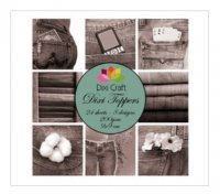 Denim Brown 9x9 cm Toppers - Papper med jeans från Dixi Craft