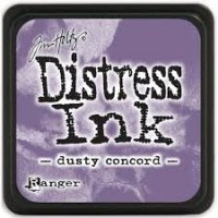 dusty concord, distress ink, tim holtz