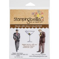 Edgar and Molly Vintage martini men stamp set - Stämpelset med stiliga herrar från Stamping Bella