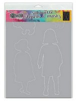 Edith girl shape stencil and mask set - Schablon och masker från Dylusions / Ranger ink