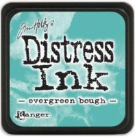 Evergreen bough distress ink - Liten turkos-mintgrön stämpeldyna från Tim Holtz / Ranger ink