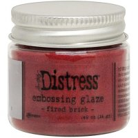 Fired brick distress embossing glaze - Glansigt embossingpulver från Tim Holtz / Ranger ink