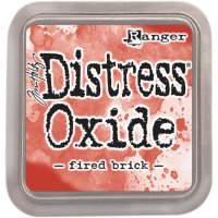 fired brick, distress oxide ink, tim holtz, ranger