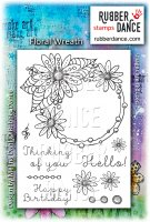 Floral Wreath stamp set - Stämplar från Rubber Dance Stamps