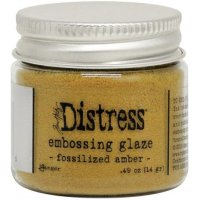 Fossilized amber distress embossing glaze - Glansigt embossingpulver från Tim Holtz / Ranger ink