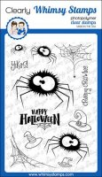 Fuzzy spiders (halloween) stamp set 4*6- Stämpelset med spindlar från Whimsy Stamps 10*15 cm