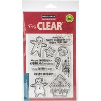 Gingerbread cookies clear stamp set 4*6 - Stämpelset med pepparkakor från Hero Arts 10*15 cm