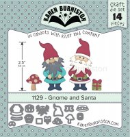 Gnome and santa die set 1129 - Stansmallar med tomtar från Karen Burniston