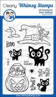 Got peepers Hallaoween cat stamp set 4*6 - Stämplar med halloweentema - katter från Whimsy Stamps 10*15 cm