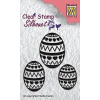 Happy Easter egg stamps - Äggstämplar från Nellie Snellen