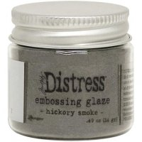 Hickory smoke distress embossing glaze - Glansigt embossingpulver från Tim Holtz / Ranger ink