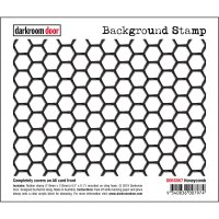 Honeycomb backgrund rubber stamp from Darkroom Door A6