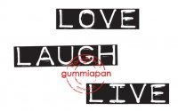 love, live, laugh, dymo, text, font, stämpel, gummiapan