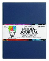 Media journal blue editon 8*10 - En konstjournal från Dina Wakley / Ranger ink