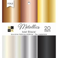 Metallics Foil Solid single sided cardstock - Metallicpapper från DCWV Single-Sided Cardstock6X6
