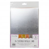 Metallic textured A4 card pack - Metallpapper med textur från Dovecraft