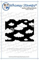 Mini cloud (sky) background rubber stamp - Stämpel med moln från Whimsy Stamps ca 10,7*8,2 cm