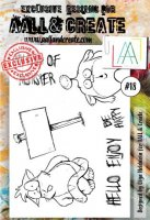 Monster sign clear stamp set #187 - Stämpelset med monster från Aall & Create A6