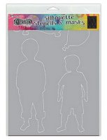 Otis boy stencil and mask set - Schablon och masker från Dylusions / Ranger ink