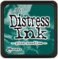 Pine needles distress ink - Liten barrgrön stämpeldyna från Tim Holtz / Ranger ink