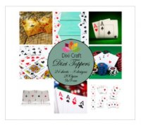 Playing Cards 9x9 cm Toppers - Papper med speltema - kortlek från Dixi Craft