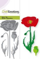 Poppy die set - Vallmostansmall från Craft Emotions 5*10 cm