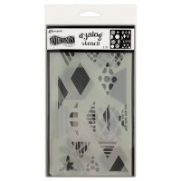Quilt it stencil set - Schabloner från Dylusions / Ranger ink