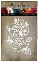 Rose bloom metal cutting die - Stansmall med blommor från Paper Rose