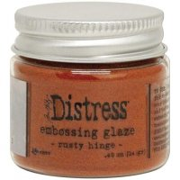 Rusty hinge distress embossing glaze - Glansigt embossingpulver från Tim Holtz / Ranger ink