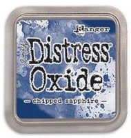 Chipped sapphire, distress, oxide