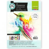 Smooth white water color paper A4 - 100 st 300-grams akvarellpapper från Florence / Vaessen Creative