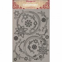 Snowflakes and garlands chipboard decorations - Dekorationer med jultema från Stamperia A4